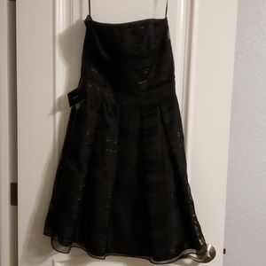 White House Black Market NEW strapless black dress